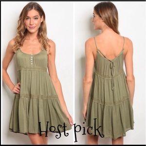 🌟🌟HP🌟🌟Olive tank dress